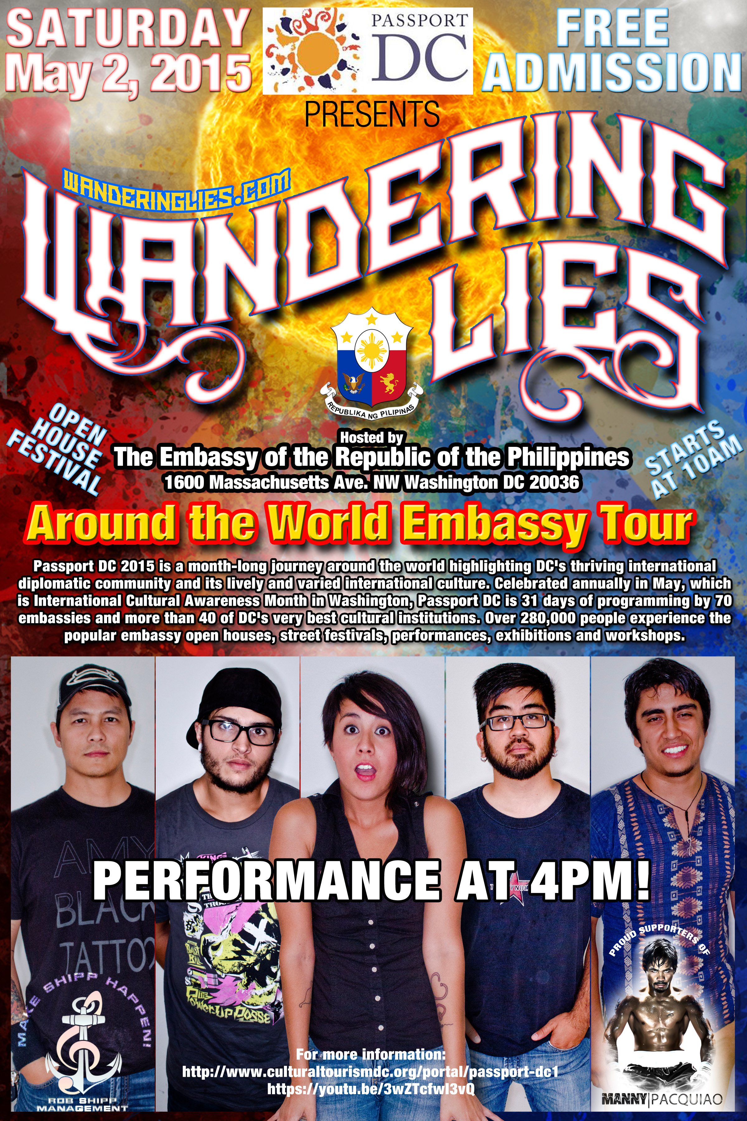 FREE SHOW! Philippine Embassy in DC Cultural Festival 4PM